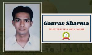 GAURAV SHARMA NDA 128th COURSE