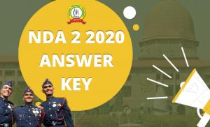 NDA 2 Answer Key 2020
