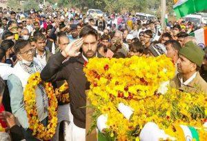 Mass gathered In Martyr Subedar Satyanarayana's last visit