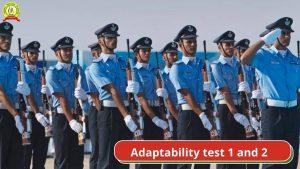 Air Force X & Y Adaptability Test 1 & 2