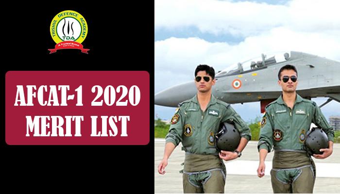AFCAT 1 2020 Merit