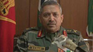 Jammu Kashmir:  Terrorist Incursion incidence reduced by 70% in the valley : Lt Gen BS Raju