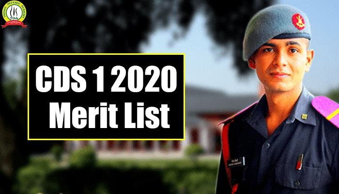 CDS 1 2020 Merit List