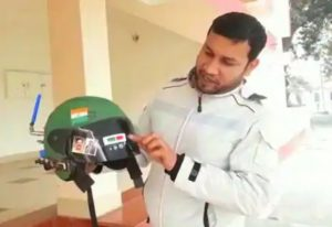 Young Scientist Invents Special Self Defence Helmet For Jawans