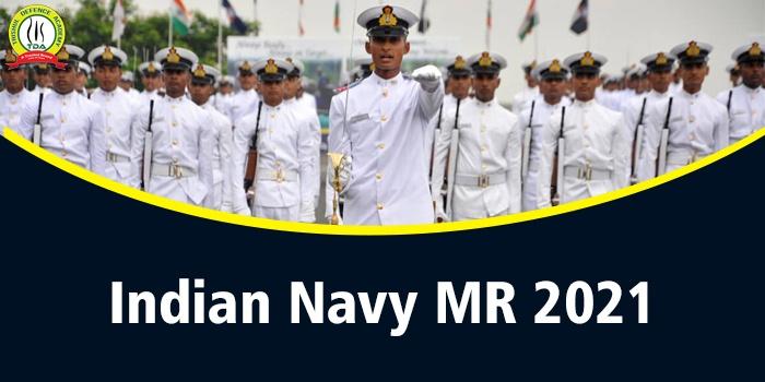 Indian Navy MR Merit List 2021