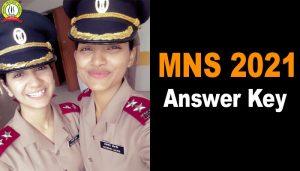 MNS 2021 Answer Key Indian Army B.Sc Nursing