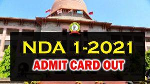 NDA 1 2021 Admit Card