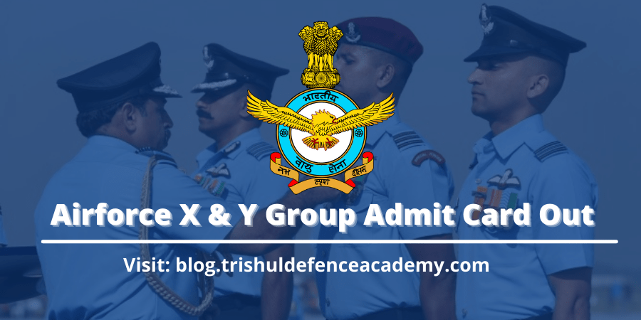 airforce x & y group exam admit card