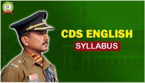 CDS English Syllabus PDF