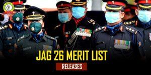 JAG 26 Merit List 2020 Released