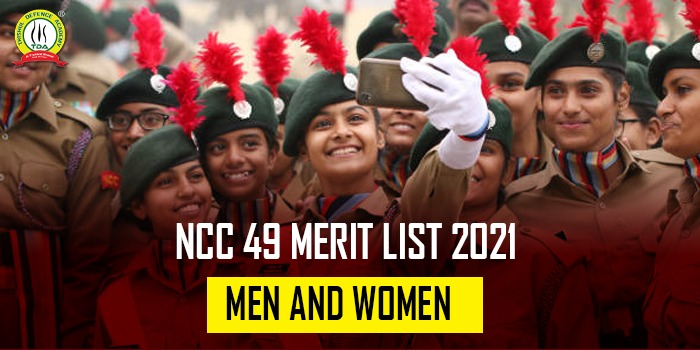 NCC 49 Merit List 2021 Men & Women