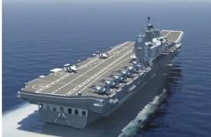 India's First Indigenous aircraft carrier Vikrant Conducts First Sea Trial